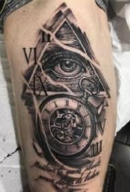 眼睛纹身 暗黑灰色的一组眼睛主题纹身图片