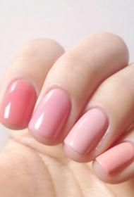 糖果指甲色参考 纯色系真的很美