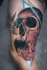 9组很好看的创意骷髅纹身图片