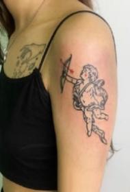 小天使纹身 9张小清新的小天使纹身图片