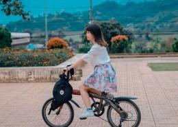 骑单车的女人图片(12张)
