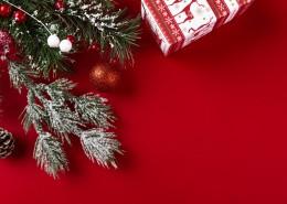 圣诞节红色背景装饰图片(10张)