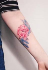 18款清新的水彩美图纹身图案