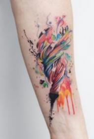 9张水彩色的创意唯美小清新纹身图片