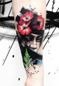 水墨纹身 9款超个性的创意水墨纹身图案