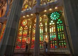 巴塞罗那圣家族大教堂内部建筑图片(15张)