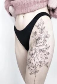 适合女孩子的小清新植物系小花卉纹身图片