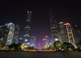 广州花城广场夜景图片(12张)