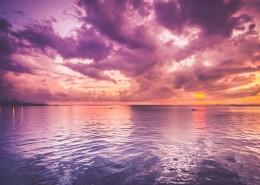 绚丽的紫色晚霞图片(14张)