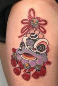红色元素的9张日式传统纹身作品图