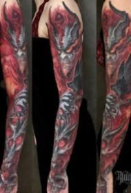 传统花臂纹身:18款传统的花臂纹身作品图案