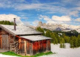 意大利多洛米蒂国家公园冬天自然风景图片(9张)