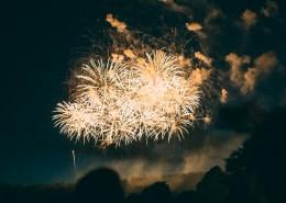 夜空中灿烂的烟花图片(12张)
