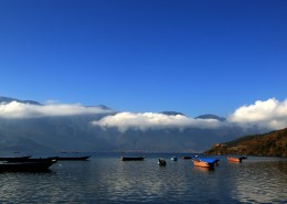 云南丽江沪沽湖自然风景