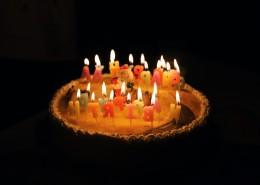 插着蜡烛的生日蛋糕图片(11张)
