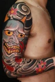 传统风格的9张大花臂纹身作品图片