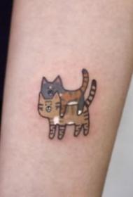 小猫咪纹身 9组很可爱的小清新小猫咪纹身图片