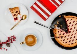 蓝莓派和咖啡的图片(9张)