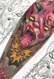 newschool风格的9款大彩图包臂人像纹身作品