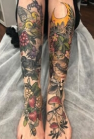 森系女孩的9款植物系列tattoo纹身图案