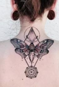 蝴蝶纹身 20款创意小清新的蝴蝶纹身图案