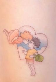 九款超可爱的卡通人物彩色小纹身图案欣赏