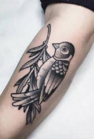 九款黑灰点刺欧美手臂纹身图案欣赏