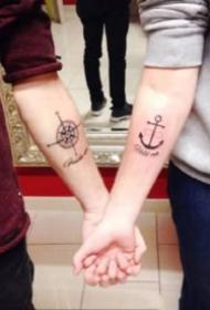 创意的21款情侣成对小纹身图案
