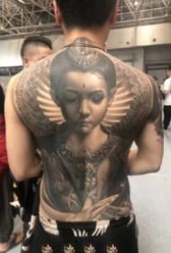 大满背纹身作品 26款2019廊坊纹身展的大满背纹身作品赏析
