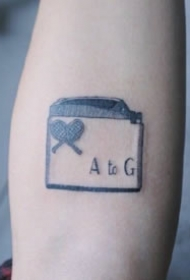 一组9张原色小清新纹身图片赏析