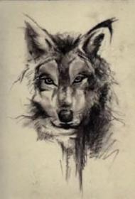 好看的15款狼纹身作品和手稿赏析