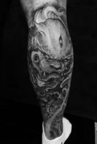 唐狮子纹身-9款狮子与麒麟结合产生的唐狮纹身图案