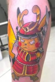 大侦探皮卡丘的一组可爱皮卡丘纹身图片