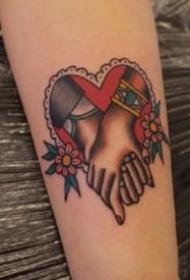 象征爱情的9款心形oldschool纹身图片