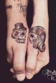 情侣纹身 20款520创意情侣成对纹身图案