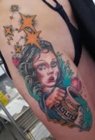 水瓶座纹身  9款十二星座之水瓶座的纹身图案
