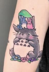 龙猫纹身 9款宫崎骏动漫龙猫的刺青图片