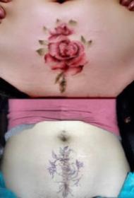 遮盖剖腹产疤痕的几款纹身图案作品