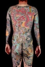 英国纹身师Stewart Robson的大型传统日式纹身作品