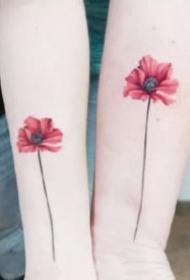 女生小清新的18款漂亮花卉纹身图案