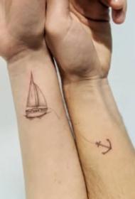 适合情侣或好朋友一起纹的15款配对纹身图