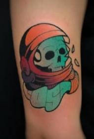 欧美school风格的9张小骷髅纹身图案