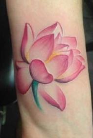 莲花图纹身 出淤泥而不染的9款粉红荷花纹身图案
