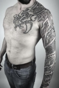 维京人图腾的18款纹身作品图案