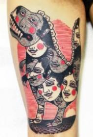 复古怪诞的一组国外纹身设计图案作品