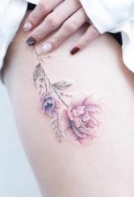女生粉色纹身 9组适合女生粉色系小清新纹身图片