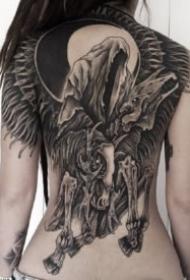 暗黑满背纹身 超酷的暗黑9款大满背纹身素材