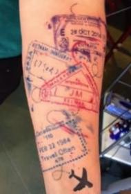 9款有趣的护照印章纹身,见证你到过的所有国家