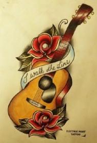 吉他纹身 几款吉他的纹