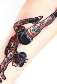 瑜伽纹身 瑜伽爱好者的一组创意纹身图案